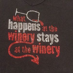 What happens at the winery bling t shirt XL